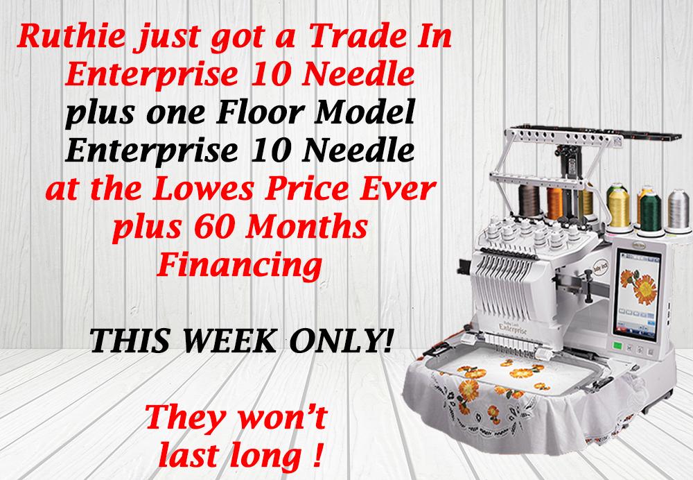 Baby Lock Enterprise Embroidery Machine