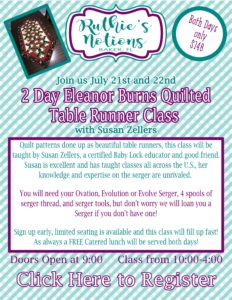 Baby Lock Serger Class with Eleanor