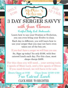 Serger Savvy with Joan